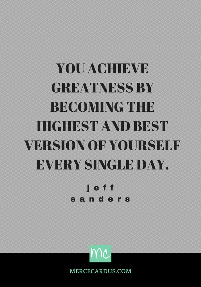 Jeff Sanders on greatness