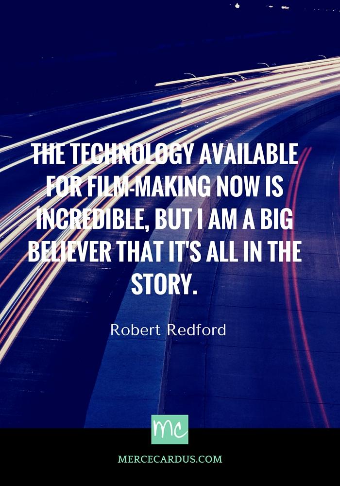 Robert Redford on technology