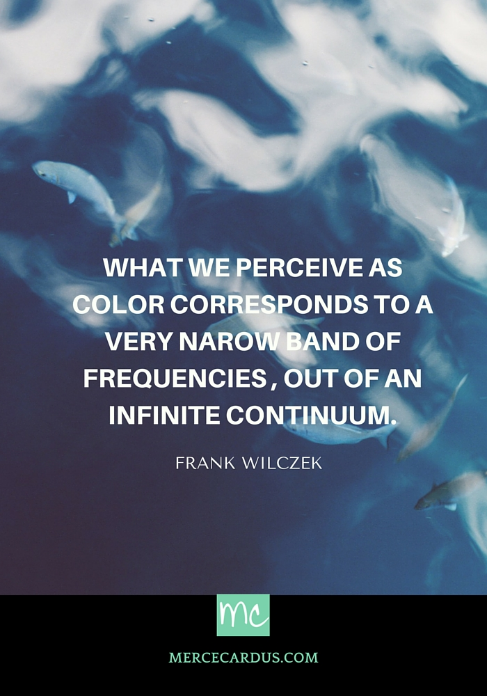 Frank Wilczek on perception of colors