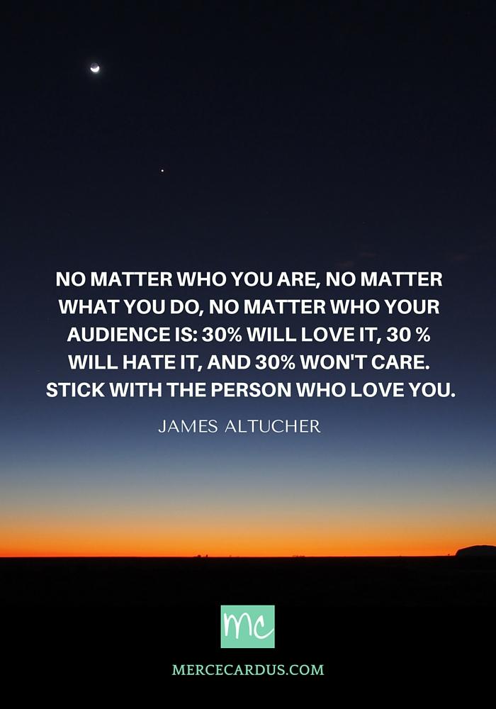 James altucher on audiences