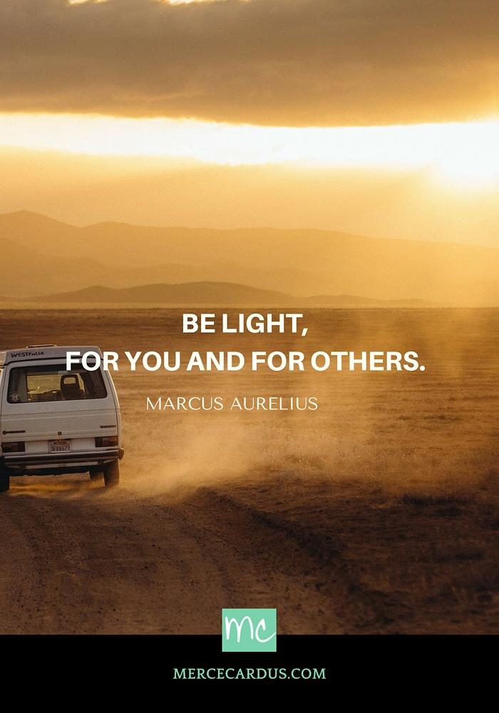 Marcus Aurelius on light